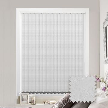 Made to measure vertical blind in Diamond White Fabric